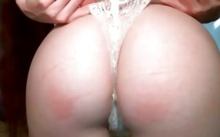 Horny guy nicely licking pussy of pretty redhead girlfriend