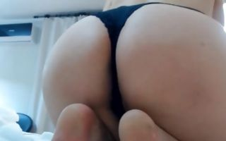 Perfect solo masturbation on bed by fabulous ex-girlfriend