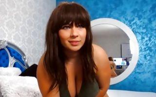 Impressive ex-girlfriend with huge boobs masturbating muff