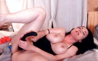 Astonishing brunette ex-girlfriend playing with wet vagina