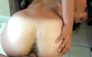 Adorable brunette Ex-GF Sofia Rivera roughly fucked in slit