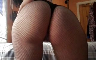 Fabulous amateur bitch with big booty playing with holes