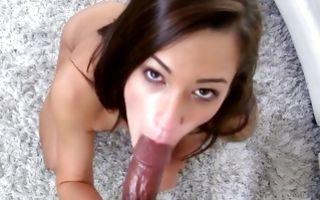 Sensual interracial sex with adorable brunette GF Natalia