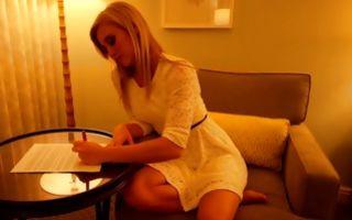 Fabulous blonde ex-girlfriend showing marvelous body