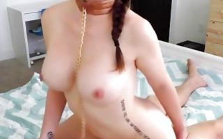 Tremendous Ex-GF with big booty nicely riding on ramrod